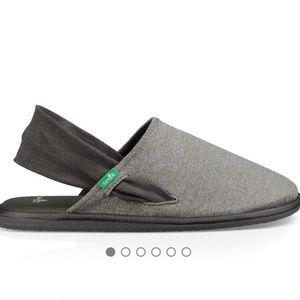 Sanuk yoga sling cruz sling back loafer sz 10